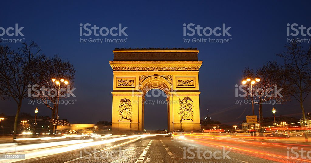 Arc de Triumph royalty-free stock photo