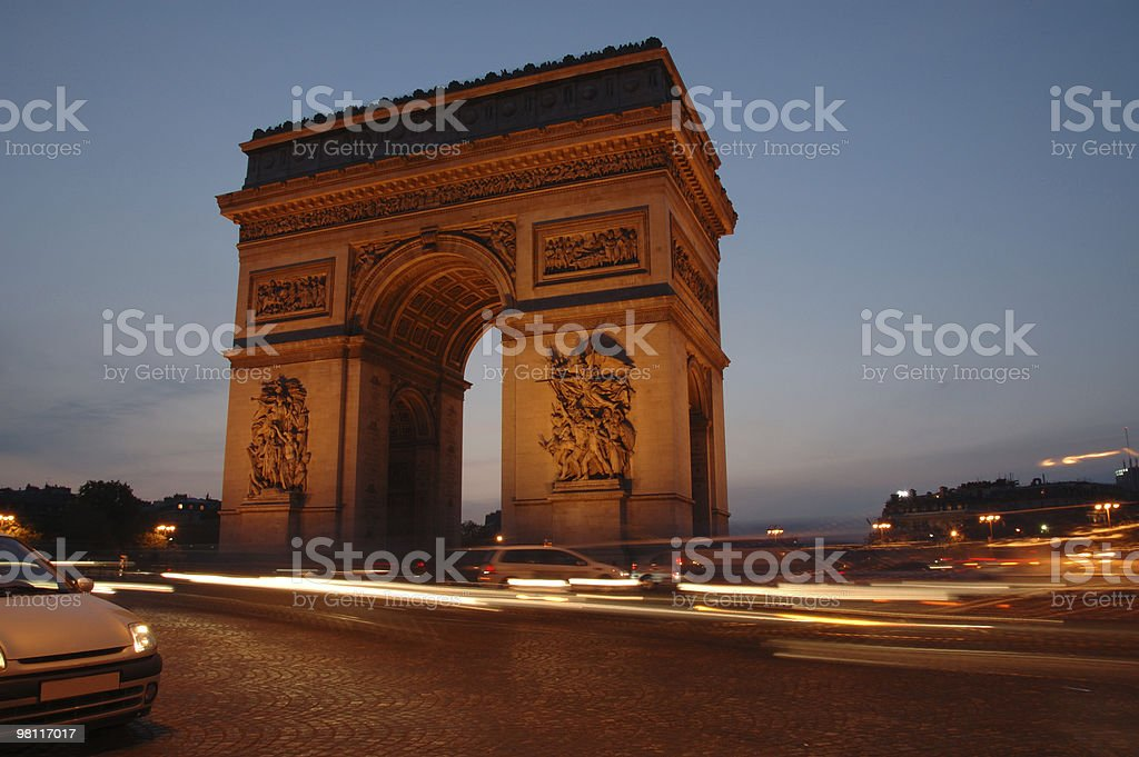 Arc the triomphe royalty-free stock photo