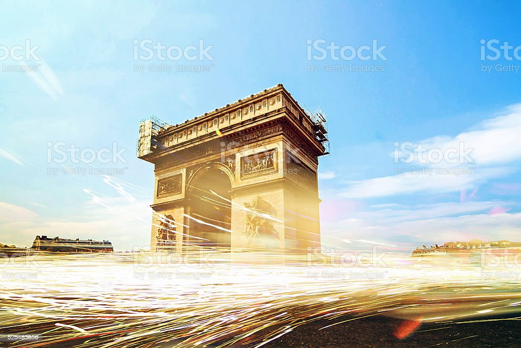 Arc traffic stock photo