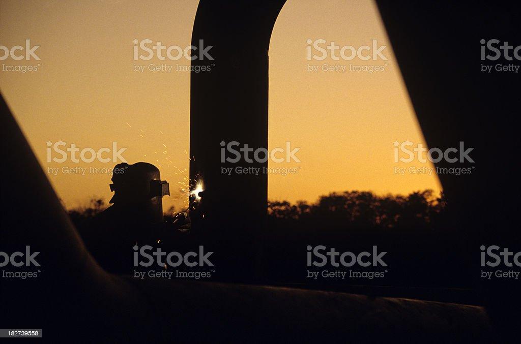 arc welder at work royalty-free stock photo