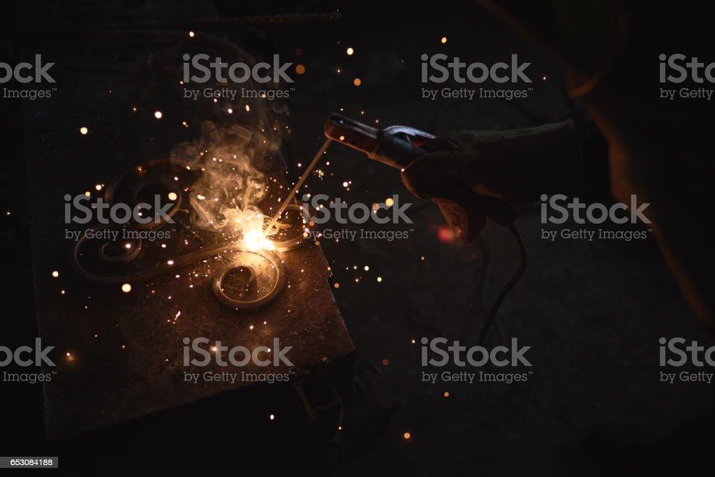 Arc welding stock photo
