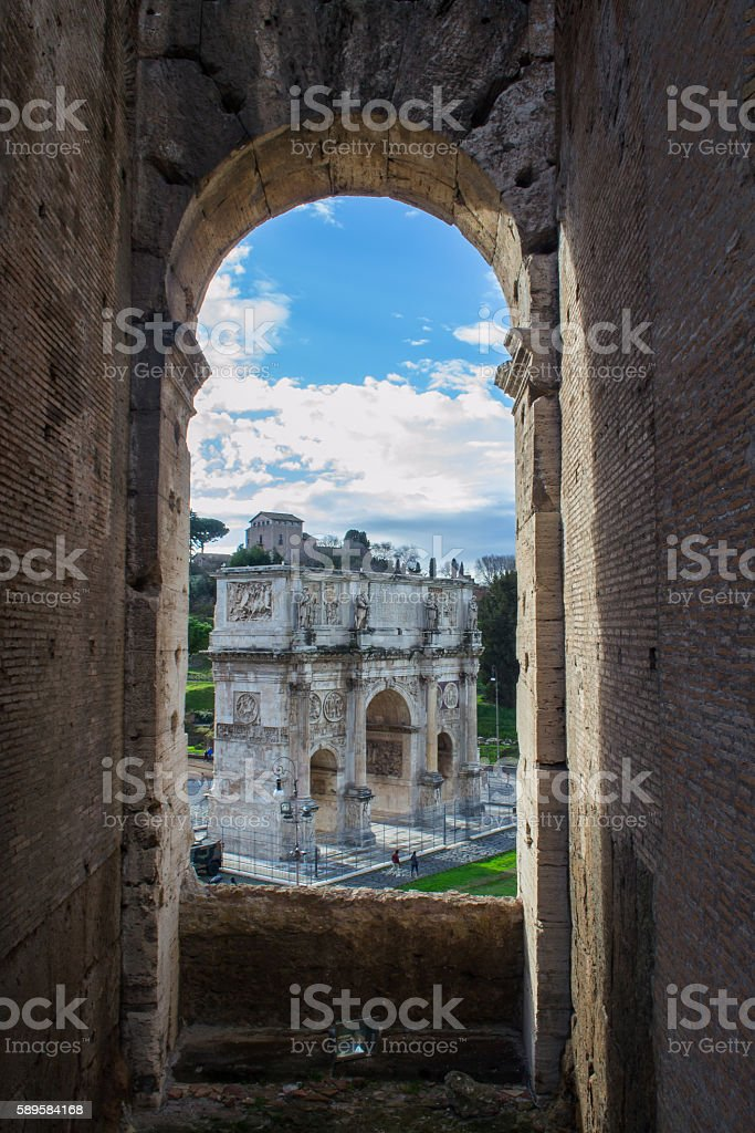 Arc Within An Arc; Inception? stock photo