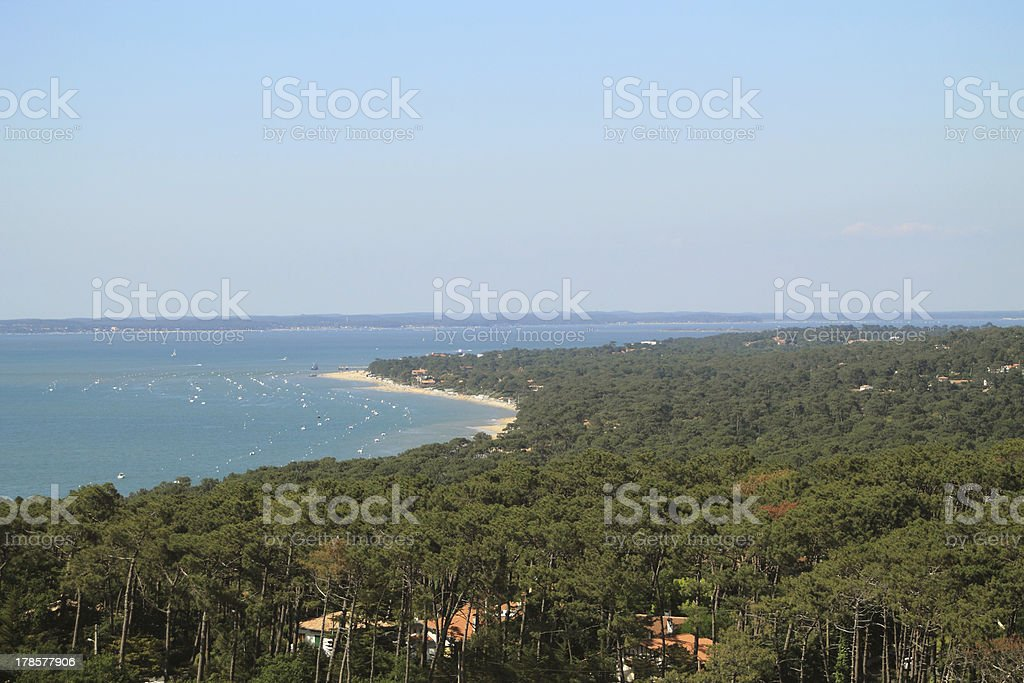 Arcachon bay in France stock photo