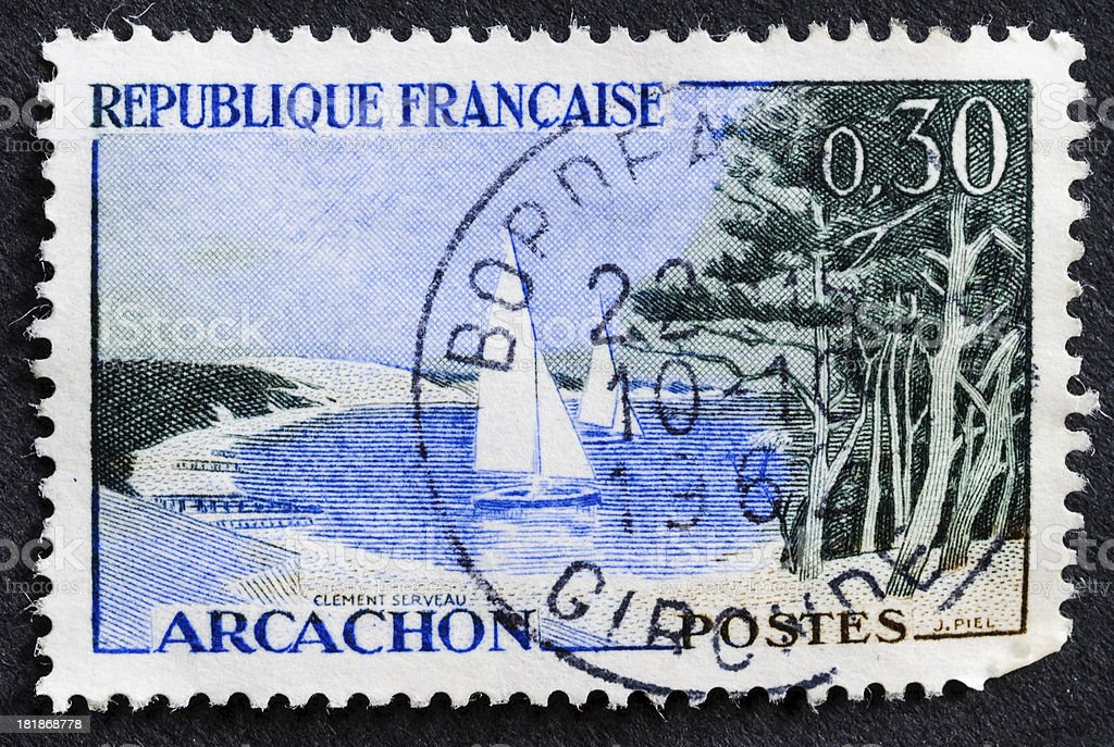 Arcachon Stamp royalty-free stock photo