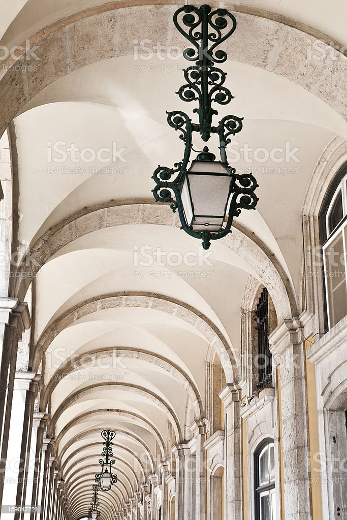 Arcade and Lamp royalty-free stock photo