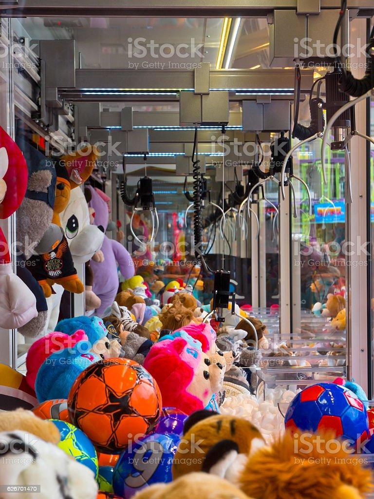 Arcade claw stock photo