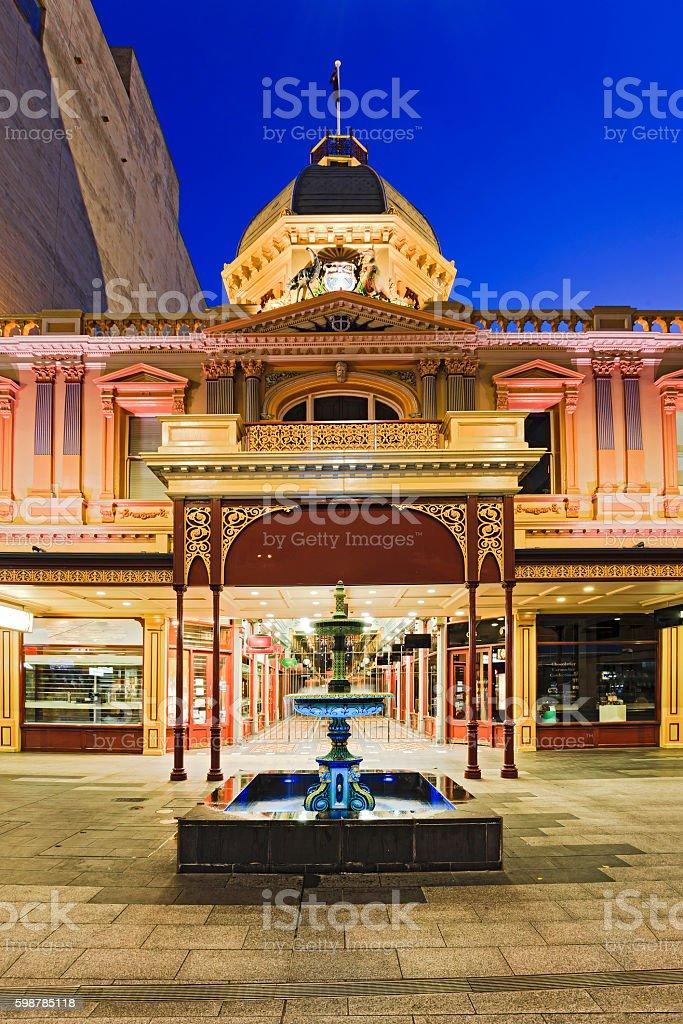 ADE Arcade Facade Front stock photo