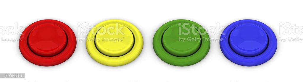 Arcade game buttons stock photo