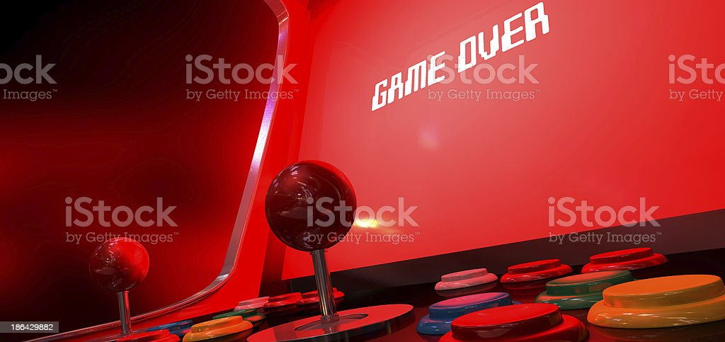 Arcade Game Over royalty-free stock photo