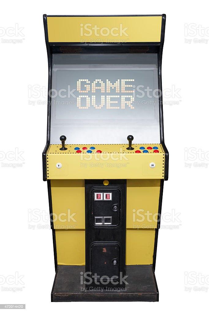 Arcade game over stock photo
