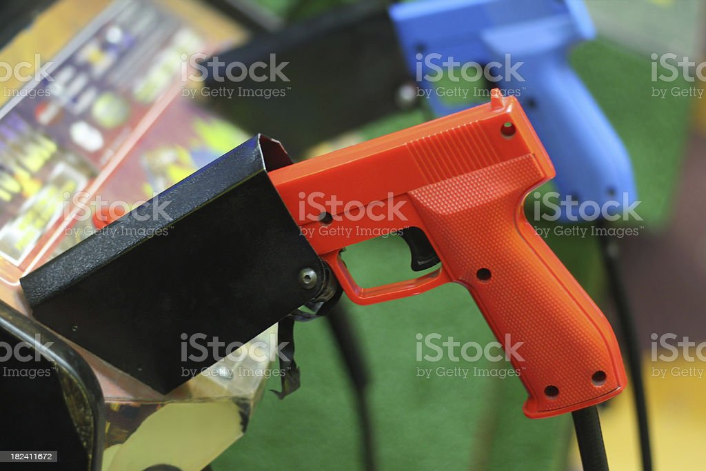 Arcade Guns royalty-free stock photo