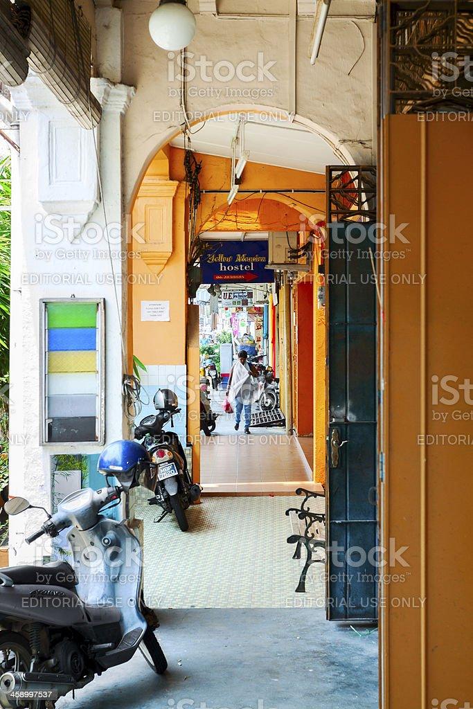 Arcade in Melaka royalty-free stock photo