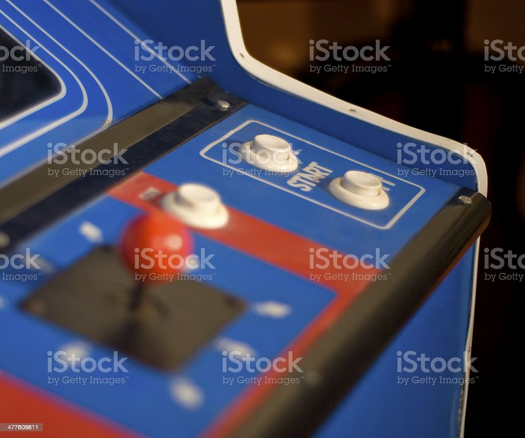 Arcade Machine start button stock photo