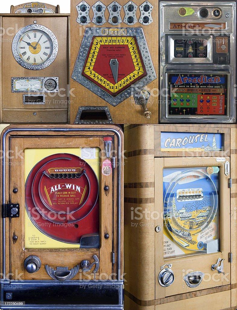 Arcade machines stock photo