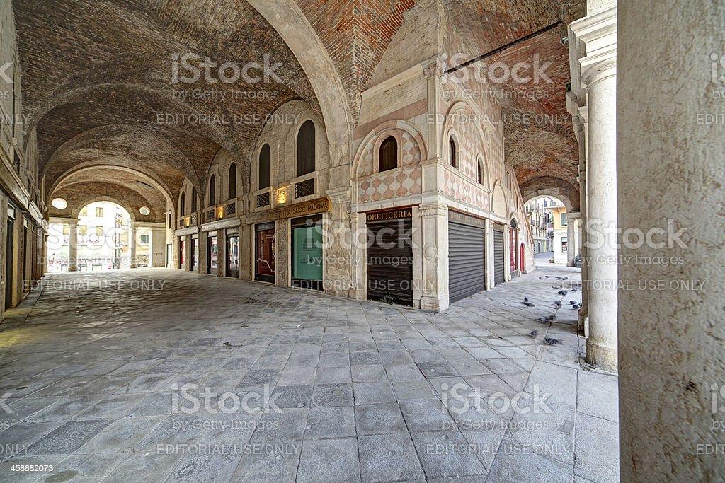 "Arcade of Basilica Palladiana (""Palazzo della Ragione""). Vicenza-Italy. royalty-free stock photo"