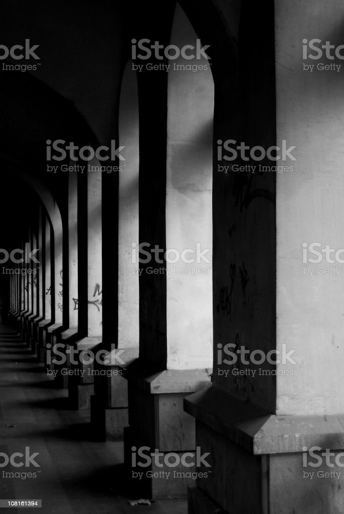 Arcade of Building royalty-free stock photo