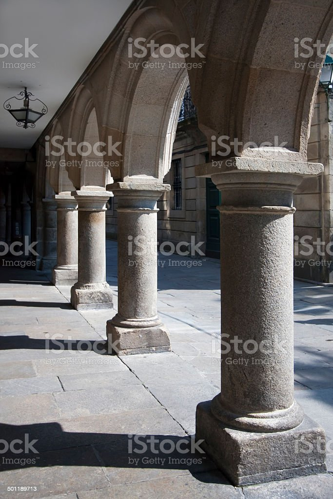 Arcade street view royalty-free stock photo