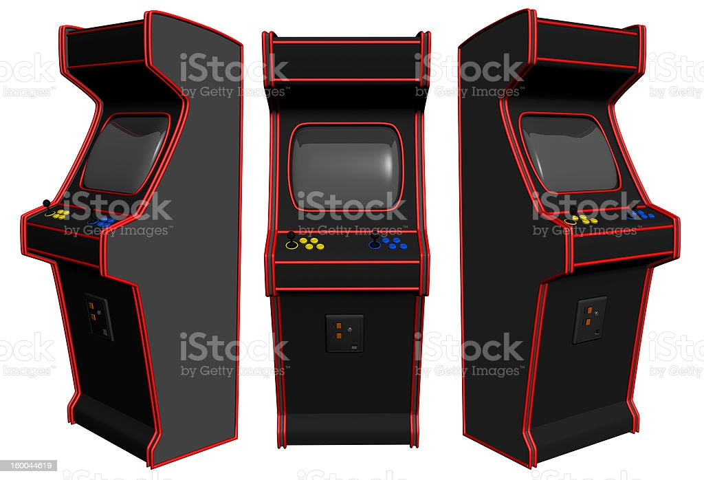 Arcade Video Gaming royalty-free stock photo