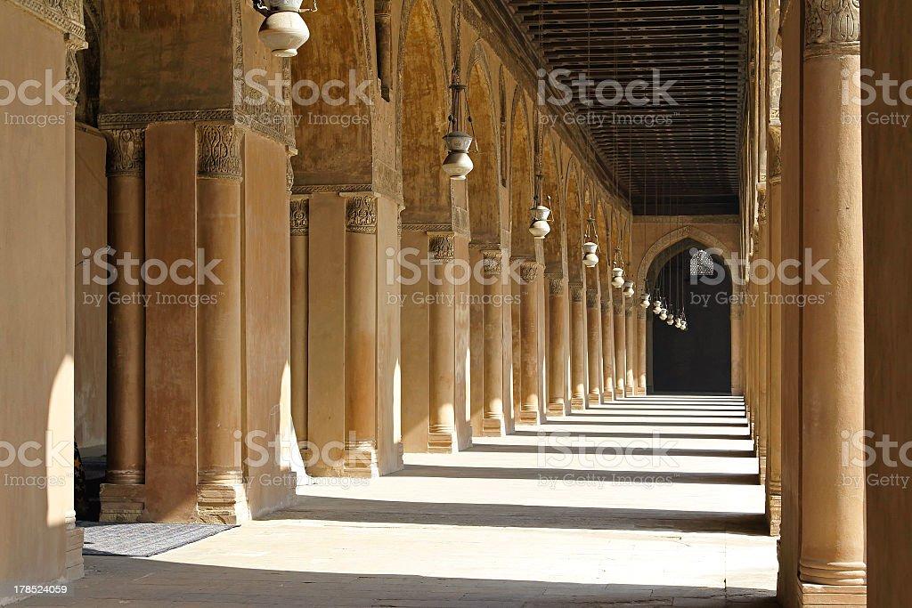 Arcaded corridors royalty-free stock photo