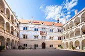 Arcaded palace in Litomysl, Czech Republic.