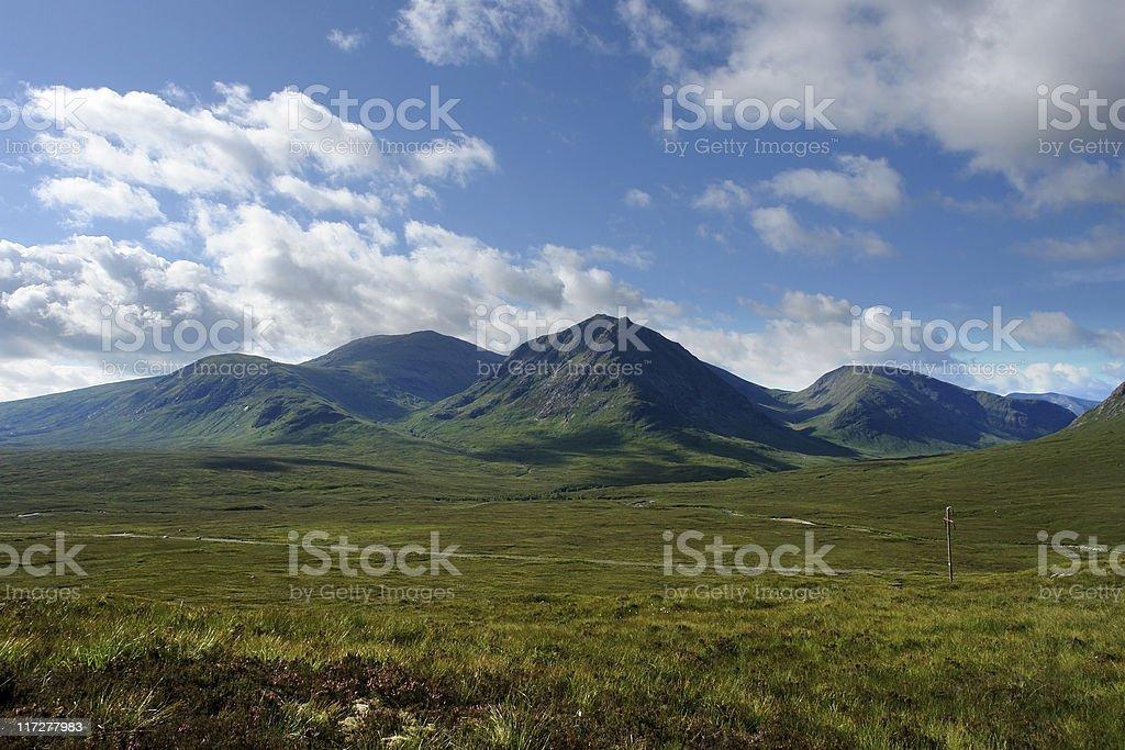 Arcadian scenery around Rannoch Moor stock photo