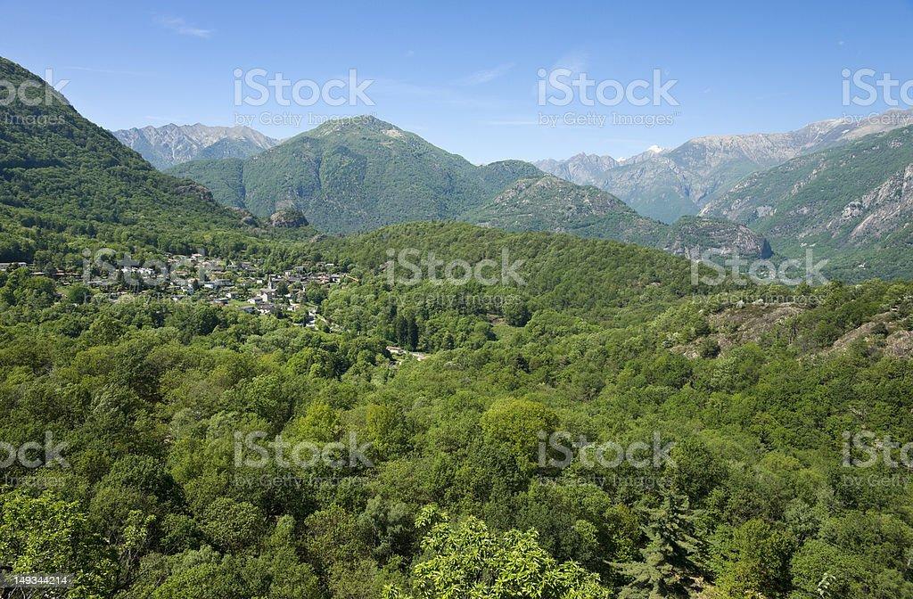 Arcegno, mit Blick Richtung Maggiatal stock photo