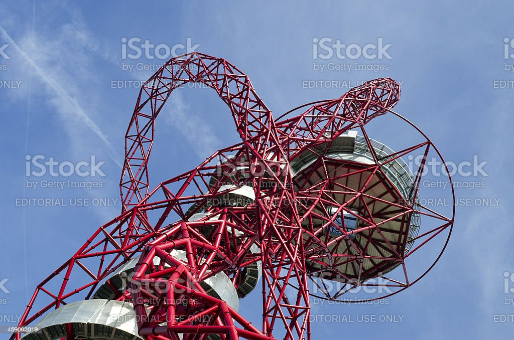 ArcelorMittal Orbit at the London 2012 Olympic Park stock photo