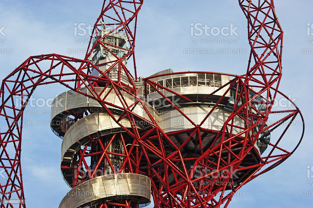 ArcelorMittal Orbit at the London Olympic Park royalty-free stock photo