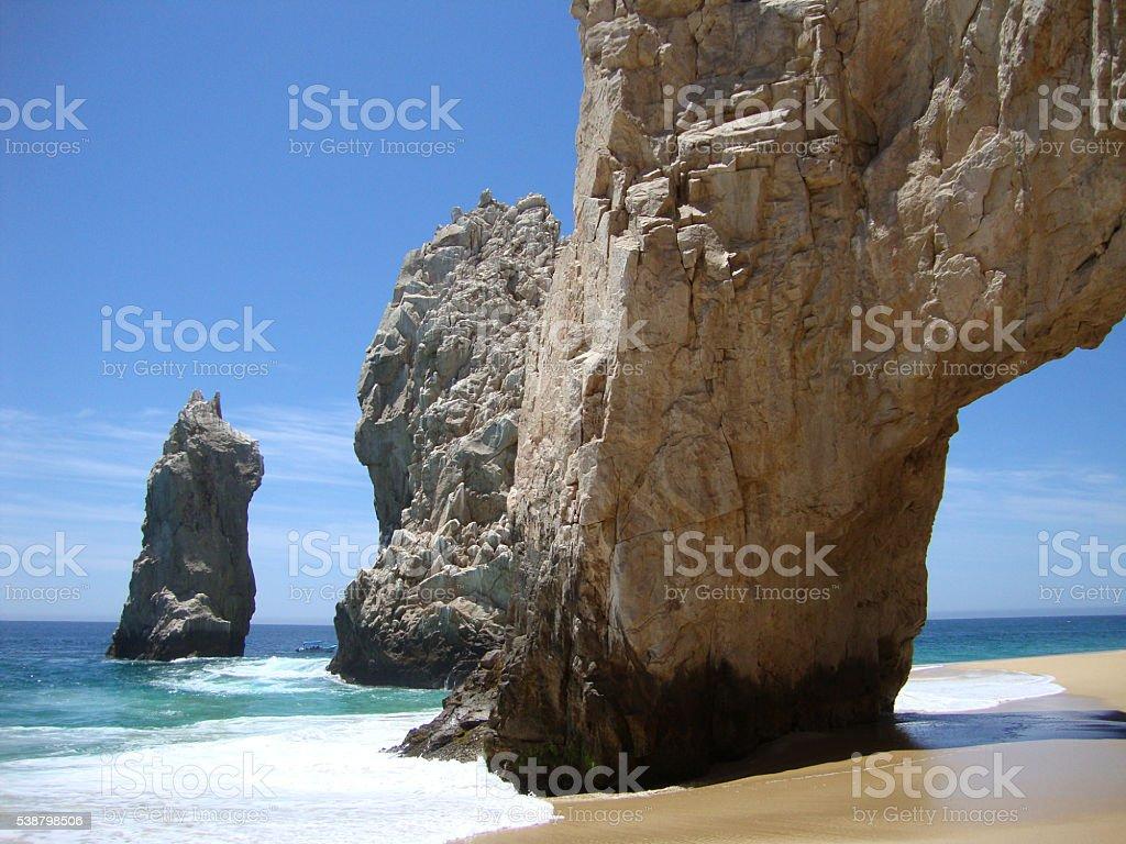 Arch at Lands End en Cabo San Lucas, México. stock photo