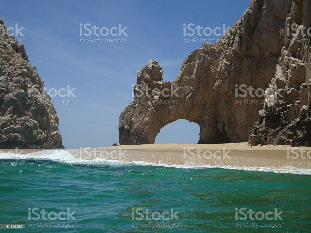Arch at Lands End in Cabo San Lucas, Mexico stock photo