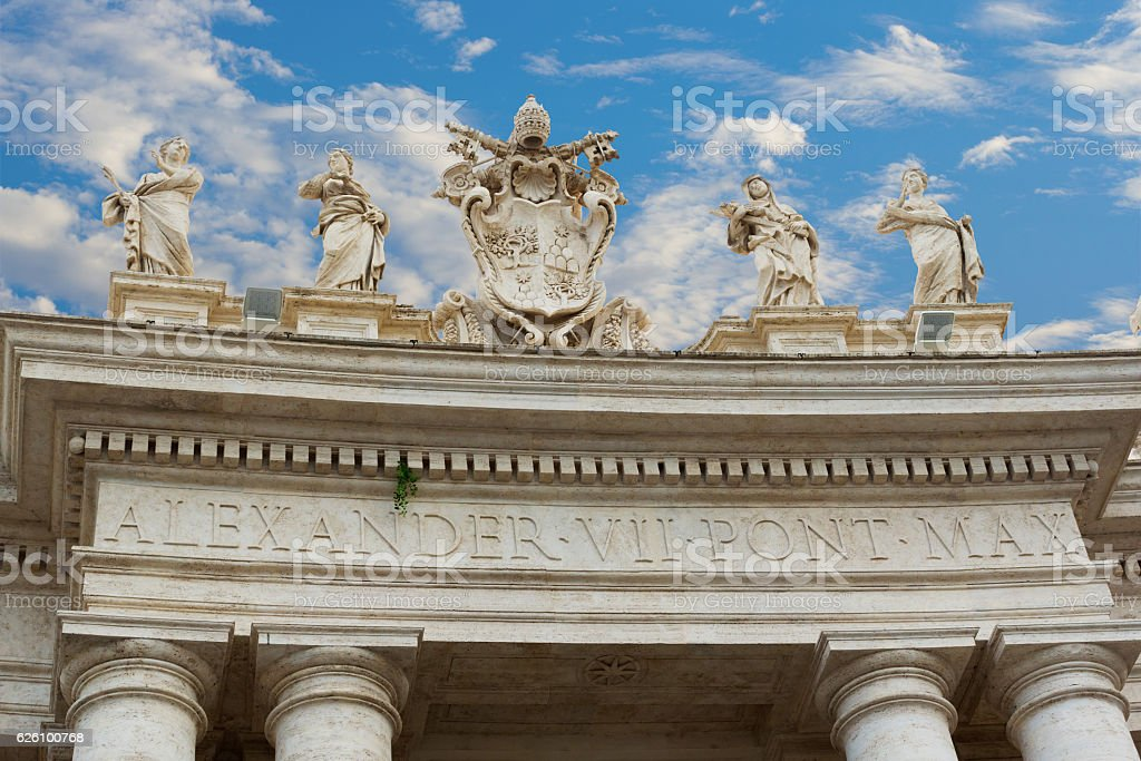 Arch at near basilica of St Peter stock photo