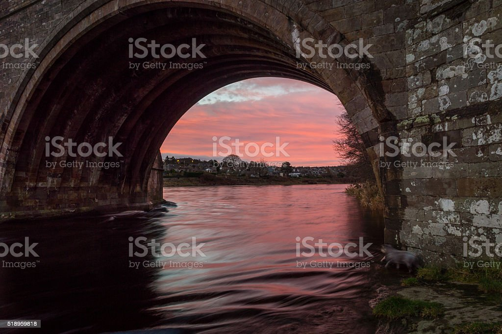 Arch at Sunrise stock photo