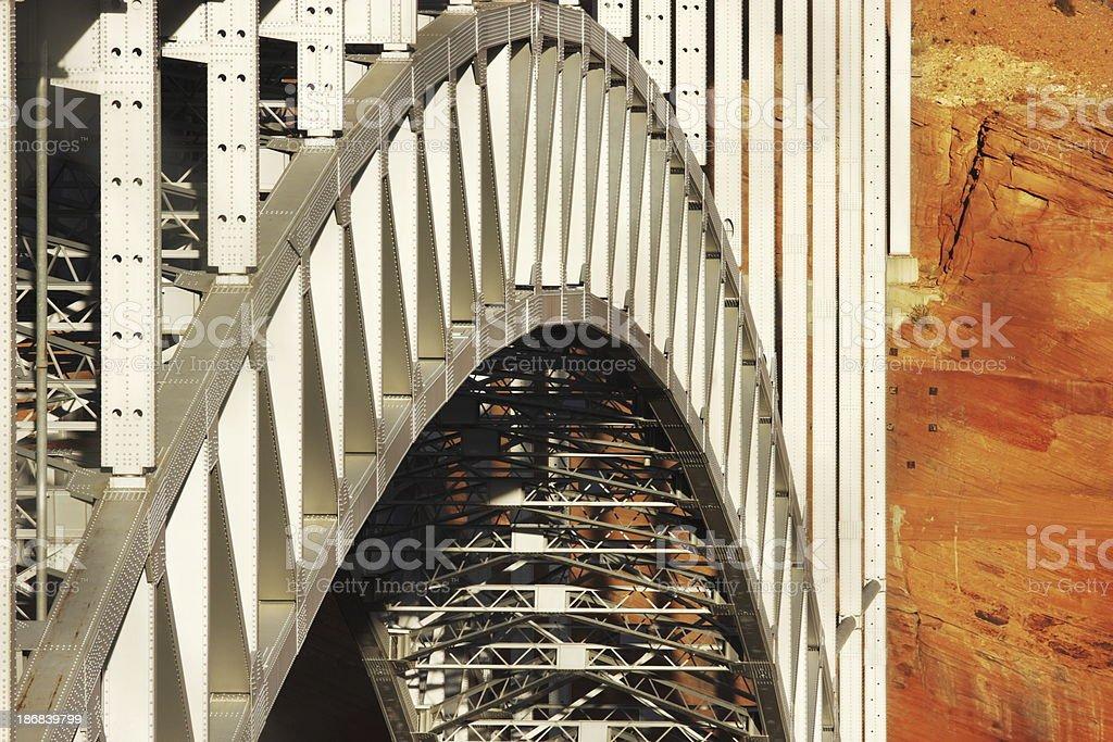 Arch Bridge Girders Glen Canyon Dam royalty-free stock photo