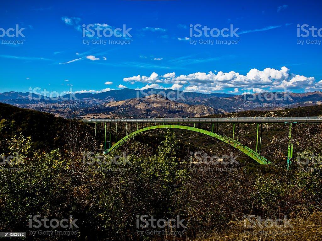 Arch Bridge in California Mountains stock photo