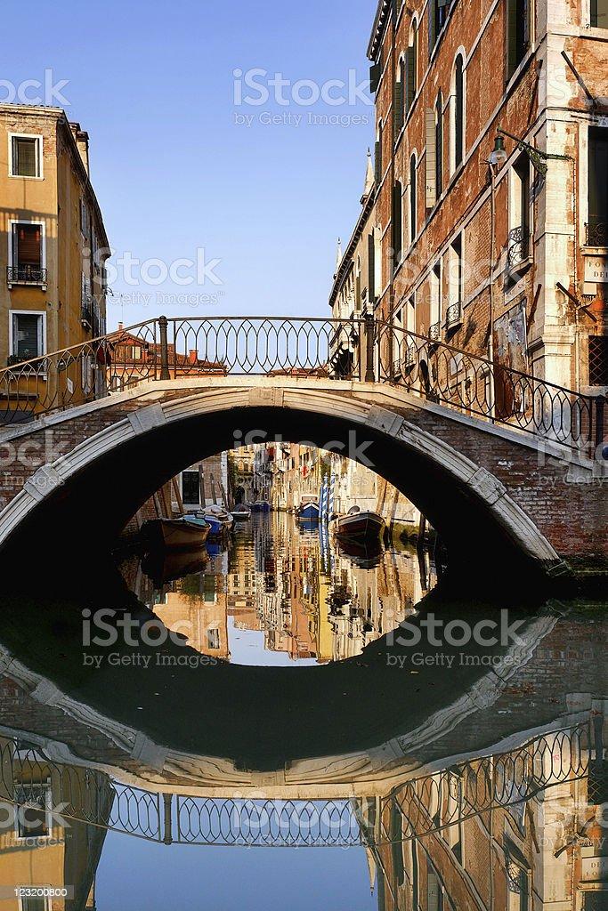 Arch bridge in Venice royalty-free stock photo