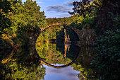 Arch bridge Rakotzbrucke in Kromlau-Germany