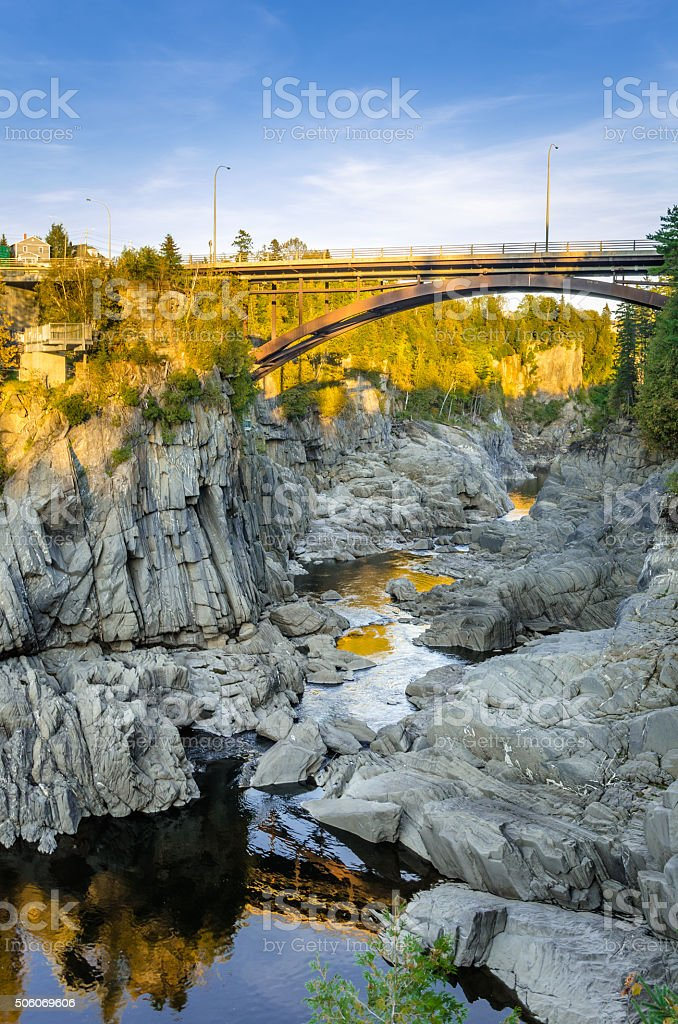 Arch Brige over a Gorge stock photo