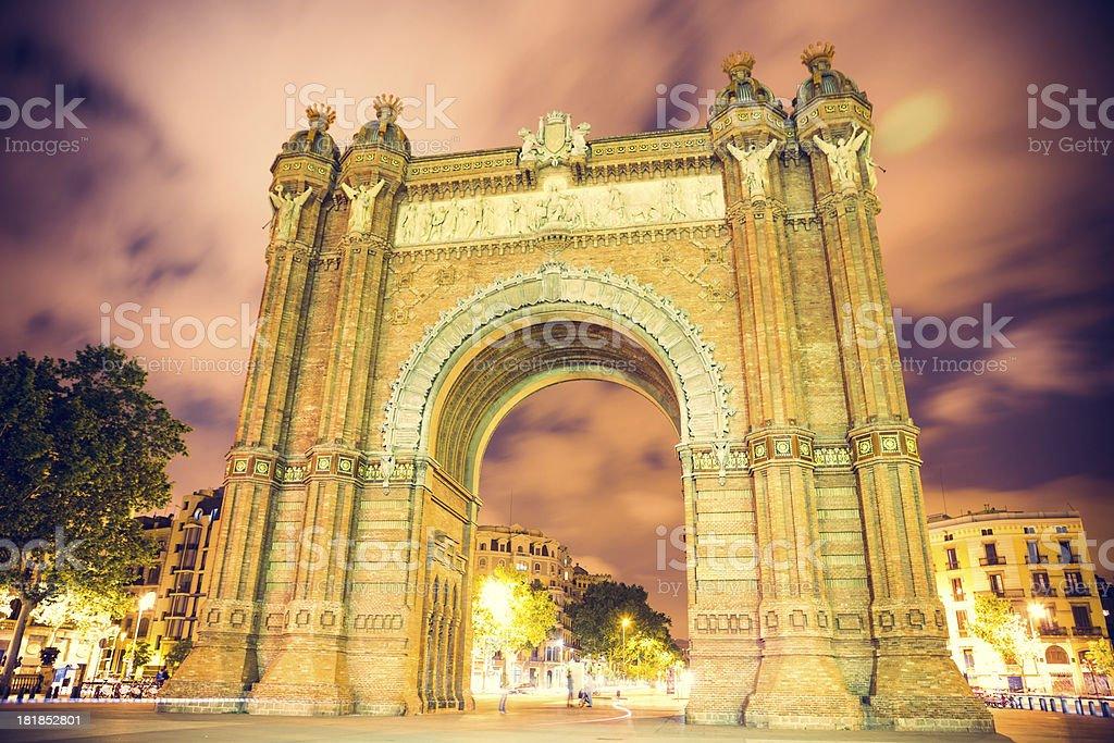 Arch de Triomf royalty-free stock photo