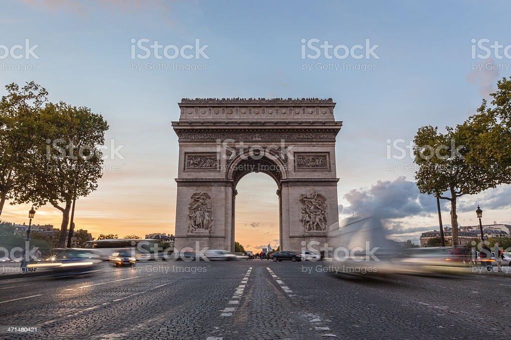 Arch de Triomphe in Paris stock photo