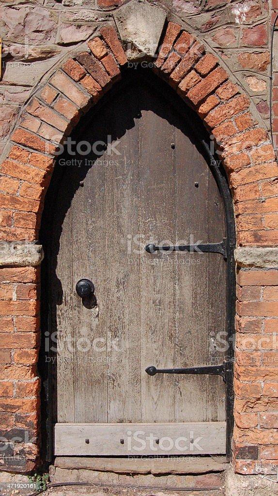 Arch Door Frame stock photo