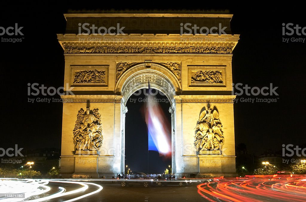 arch du triomph of Paris royalty-free stock photo