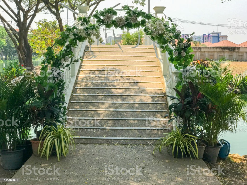 arch gate for wedding stock photo