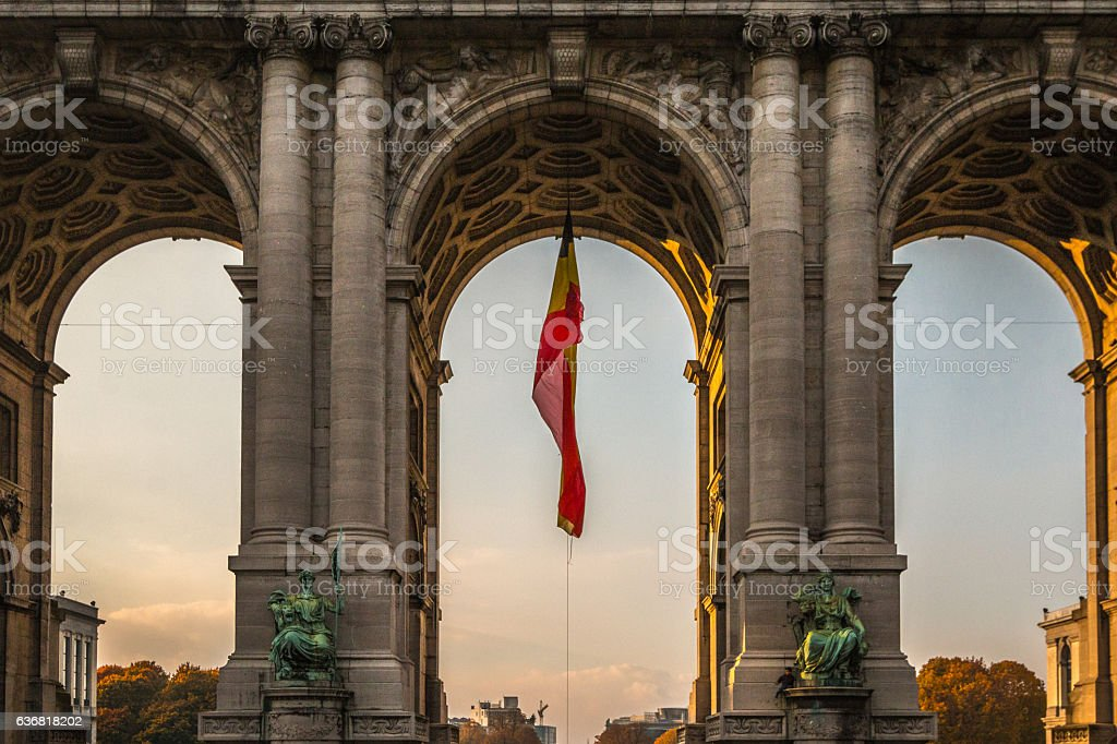 Arch in Jubel Park in Brussels stock photo