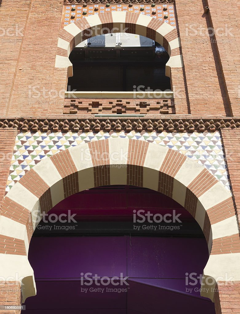 Arch neo-Mudejar style royalty-free stock photo