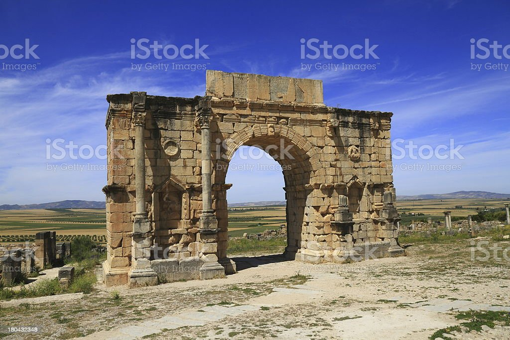 Arch of Caracalla stock photo