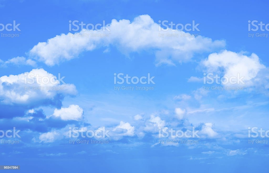 Arch of clouds stock photo