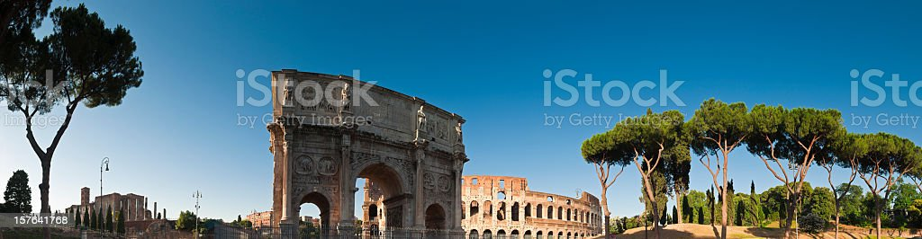 Arch of Constantine, Coliseum, Rome stock photo