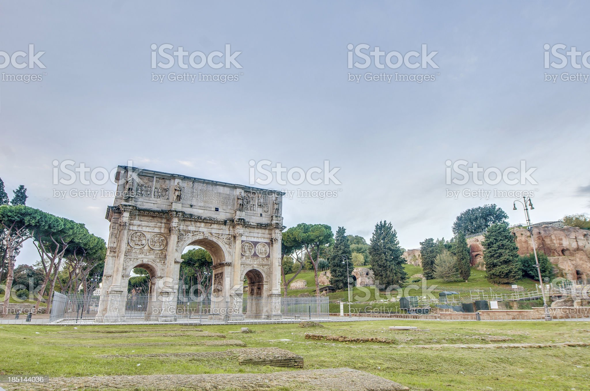 Arch of Constantine in Rome, Italy royalty-free stock photo