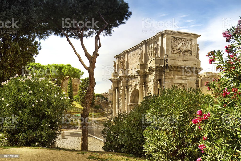 Arch Of Constantine in Rome royalty-free stock photo