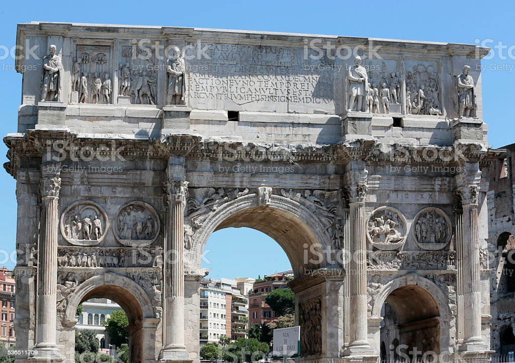 Arch of Constantine, Roma, Italy stock photo